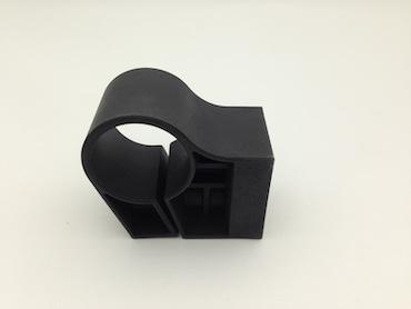 black nylon PA66 plastic part