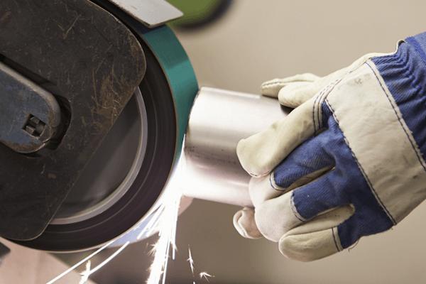 Mechanical metal surface finishing